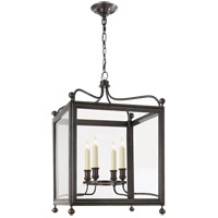 Visual Comfort Studio Greggory 4 Light Ceiling Lantern in Bronze with Wax SP5002BZ