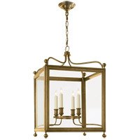 J. Randall Powers Greggory 4 Light 18 inch Hand-Rubbed Antique Brass Foyer Pendant Ceiling Light