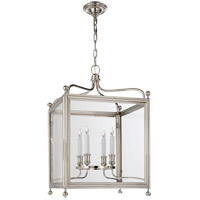 Visual Comfort Studio Greggory 4 Light Ceiling Lantern in Polished Nickel SP5002PN