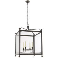 Visual Comfort Studio Greggory 4 Light Ceiling Lantern in Bronze with Wax SP5003BZ