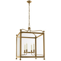 Visual Comfort Studio Greggory 4 Light Ceiling Lantern in Hand-Rubbed Antique Brass SP5003HAB