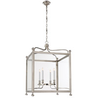 Visual Comfort Studio Greggory 4 Light Ceiling Lantern in Polished Nickel SP5003PN