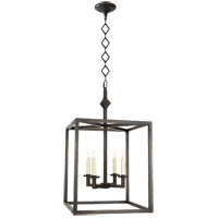 Visual Comfort Studio Star 4 Light Foyer Pendant in Aged Iron with Wax SP5004AI
