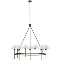 Visual Comfort J. Randall Powers Hackney 9 Light 42-inch Chandelier in Bronze, Large, Natural Paper Shade SP5014BZ-NP