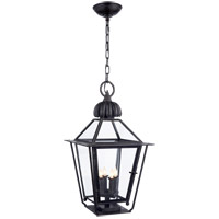 Visual Comfort Studio Audley 4 Light Outdoor Hanging Lantern in Blackened Copper SP5071BC