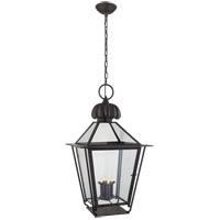 Visual Comfort Studio Audley 4 Light Outdoor Hanging Lantern in Blackened Copper SP5072BC