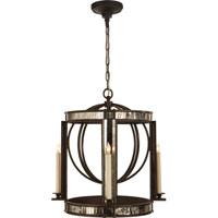 Visual Comfort Studio Kate 4 Light Ceiling Lantern in Aged Iron with Wax SP5300AI