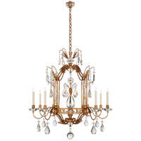 Visual Comfort SP5803GI-CG J. Randall Powers Whitley 8 Light 35 inch Gilded Iron Chandelier Ceiling Light
