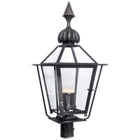 Visual Comfort Studio Audley 4 Light Post Lantern in Blackened Copper SP7071BC