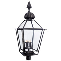 J. Randall Powers Audley 4 Light 37 inch Blackened Copper Post Lantern