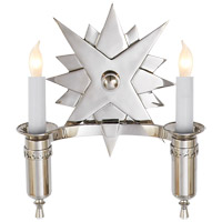 John Rosselli Miguel 2 Light 9 inch Polished Nickel Decorative Wall Light