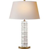 Visual Comfort Studio Tribune 1 Light Decorative Table Lamp in Hand-Rubbed Antique Brass SR3000HAB-NP