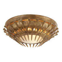 Visual Comfort Studio Lawrence 2 Light Flush Mount in Gilded Iron with Wax SR4001GI-FG