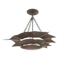 Visual Comfort Studio Anthropomorphic 3 Light Pendant in Hand Painted Rust Finish SR5000AZ