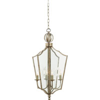 Visual Comfort Studio Maher 4 Light Pendant in Burnished Silver Leaf SR5002BSL