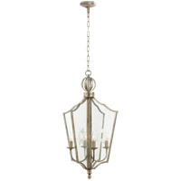 Visual Comfort SR5002BSL John Rosselli Maher 4 Light 13 inch Burnished Silver Leaf Pendant Ceiling Light