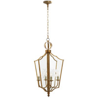 John Rosselli Maher 4 Light 13 inch Gilded Iron with Wax Pendant Ceiling Light