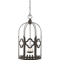 Visual Comfort Studio Baltic 4 Light Ceiling Lantern in Aged Iron with Wax SR5006AI