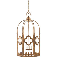 Visual Comfort Studio Baltic 4 Light Ceiling Lantern in Gilded Iron with Wax SR5006GI