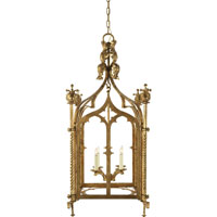 Visual Comfort Studio Furlow 4 Light Ceiling Lantern in Gilded Iron with Wax SR5010GI