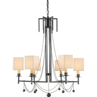 Visual Comfort Studio Millo 6 Light Chandelier in Bronze with Wax SR5017BZ-NP