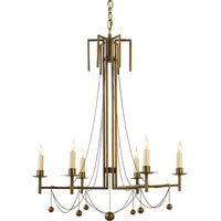 Visual Comfort Studio Millo 6 Light Chandelier in Hand-Rubbed Antique Brass SR5017HAB-NP