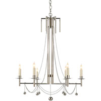 Visual Comfort Studio Millo 6 Light Chandelier in Polished Nickel SR5017PN-NP