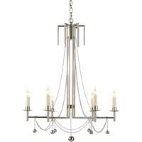 Visual Comfort SR5017PN-NP John Rosselli Millo 6 Light 25 inch Polished Nickel Chandelier Ceiling Light