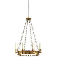 Visual Comfort SR5020HAB John Rosselli Natalya 8 Light 35 inch Hand-Rubbed Antique Brass Chandelier Ceiling Light