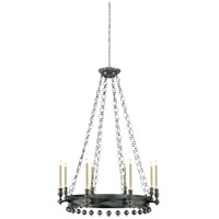 Studio Natalya 8 Light 35 inch Sheffield Nickel Chandelier Ceiling Light