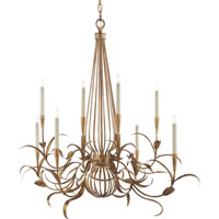 Visual Comfort Studio Alyssa 8 Light Chandelier in Gilded Iron with Wax SR5029GI