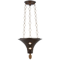 Visual Comfort Studio Callie 3 Light Pendant in Aged Iron with Wax SR5101AI