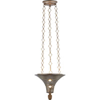 Visual Comfort Studio Callie 3 Light Pendant in Antique Silver Leaf SR5101ASL