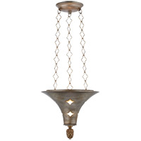 Visual Comfort SR5101BSL John Rosselli Callie 3 Light 12 inch Burnished Silver Leaf Pendant Ceiling Light