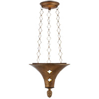 Visual Comfort SR5101GI John Rosselli Callie 3 Light 12 inch Gilded Iron Pendant Ceiling Light
