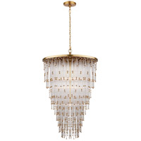 Visual Comfort SR5111HAB-CG John Rosselli Mia 5 Light 24 inch Hand-Rubbed Antique Brass Pendant Ceiling Light