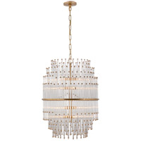 Visual Comfort SR5114HAB-CG John Rosselli Mia 12 Light 21 inch Hand-Rubbed Antique Brass Chandelier Ceiling Light