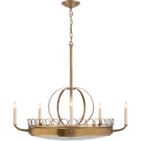 Visual Comfort Studio Griffin 5 Light Chandelier in Hand-Rubbed Antique Brass SR5125HAB