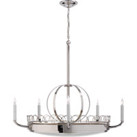 Visual Comfort Studio Griffin 5 Light Chandelier in Polished Nickel SR5125PN
