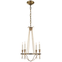 Visual Comfort Studio Savannah 4 Light Chandelier in Hand-Rubbed Antique Brass SR5140HAB