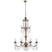 Visual Comfort SR5144AGW John Rosselli Princess Mari Ann 8 Light 37 inch Antique Gilded Wood Chandelier Ceiling Light