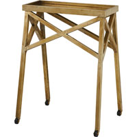 Visual Comfort Studio John Rosselli Newton Table in Hand-Rubbed Antique Brass SRF200HAB