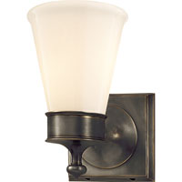 Visual Comfort Studio Siena 1 Light Bath Wall Light in Bronze with Wax SS2001BZ-WG