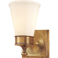 Visual Comfort Studio Siena 1 Light Bath Wall Light in Hand-Rubbed Antique Brass SS2001HAB-WG