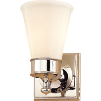 Visual Comfort Studio Siena 1 Light Bath Wall Light in Polished Nickel SS2001PN-WG