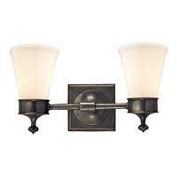 Visual Comfort Studio Siena 2 Light Bath Wall Light in Bronze with Wax SS2002BZ-WG