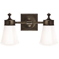 Studio Siena 2 Light 15 inch Bronze Bath Wall Light