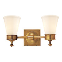 Visual Comfort Studio Siena 2 Light Bath Wall Light in Hand-Rubbed Antique Brass SS2002HAB-WG