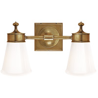 Visual Comfort SS2002HAB-WG Studio Siena 2 Light 15 inch Hand-Rubbed Antique Brass Bath Wall Light