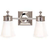 Studio Siena 2 Light 15 inch Polished Nickel Bath Wall Light